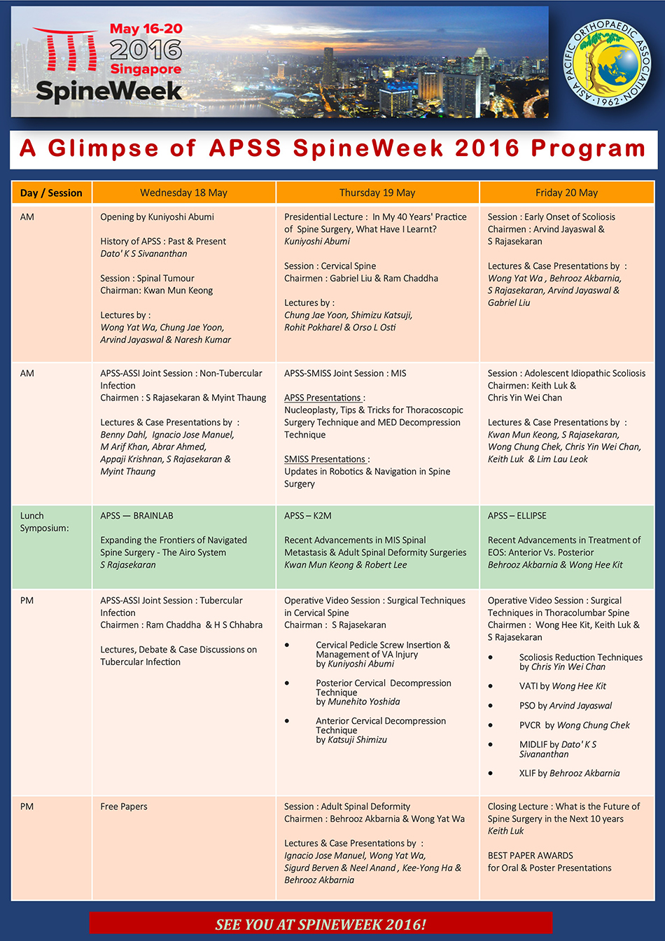 APSS Scientific Programme Daily Highlights