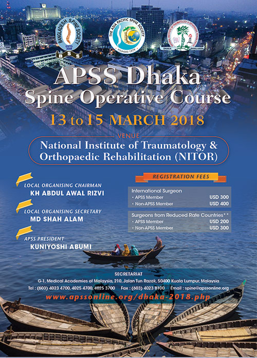 Apss Dhaka Spine Operative Course