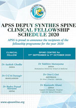 APSS DePuy Synthes Clinical Fellowship