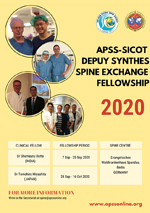 APSS-SICOT Depuy Synthes Spine Exchange Fellowship 2020