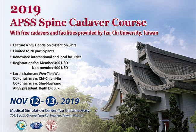 APSS Spine Cadaver Course Taiwan 2019